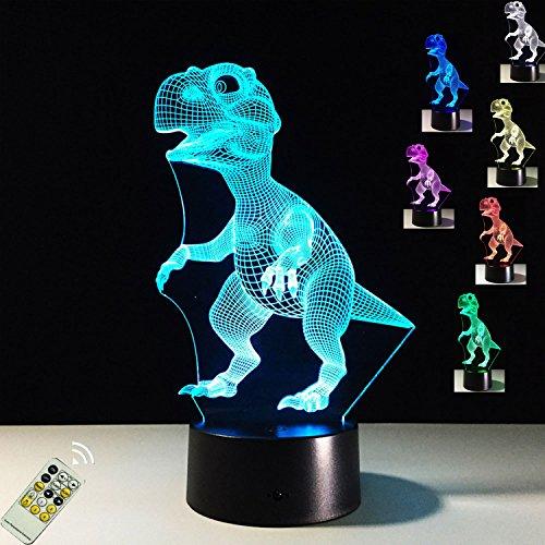 FARS 3D visualización increíble resplandor lámpara de noche-bombilla de luz LED - arte escultura luces para arriba en produce únicos dibujos animados efectos de iluminación y visualización en 3D increíble ilusión óptica siete colores transforman …