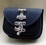 Gürteltasche Thors Hammer Mjölnier Leder Farbe schwarz -