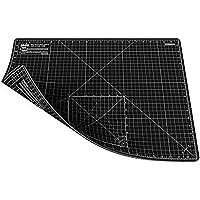 ANSIO A2 de doble cara. Autocuración 5 capas de tapete de corte Imperial / Métrico 22.5 pulgadas x 17 pulgadas (59 cm x 44 cm) - Negro/Negro
