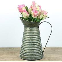 Jarrón para flores grande, diseño francés de regadera