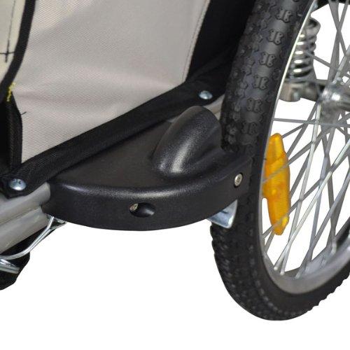 Vollgefederter Kinderfahrradanhänger mit Joggerfunktion Fahrradanhänger Exclusiv 504S-01 - 5