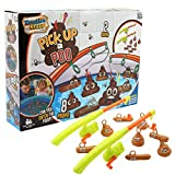 KreativeKraft Pick Up A Poo Multiplayer Game for Outdoors Indoors Bath Games for Kids with Fishing Rods and Poop Floaters Party Game