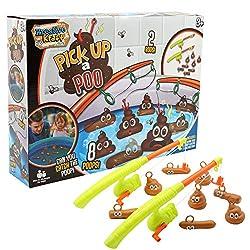 KreativeKraft Fisch den Kacke Fischfang Spiel Angelspiel für Kinder Spielzeug für die Ganze Familie Familienspiel Kinderspiel Badespielzeug