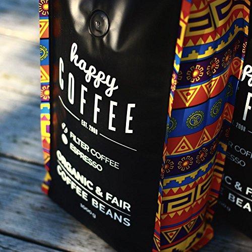Happy Coffee Kaffeebohnen 1kg – Frisch geröstet – ganze Bohne – Premium Bio-Kaffee, Fair-trade, Arabica, Crema - 8