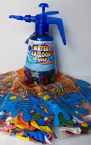 Lhh 1 STK.Wasserballonpumpe Wasserbomben-Füller mit Knotenhilfe Wasserballon Pumpe inkl. Wasserballons 500 Stück Wasserbombe Pool Badespaß