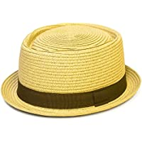 Pork Pie Hat with Narrow Brim and Contrasting Grosgrain Ribbon Band -  Ladies Womens Mens Unisex 550701b05178