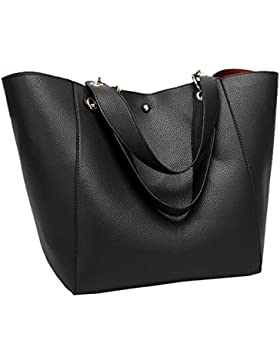 Tibes Art und Weise faux Leder Damen Handtaschen große Tragetasche