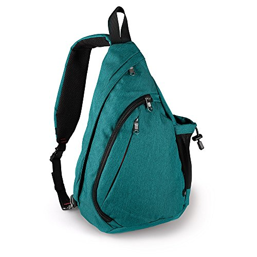 Sling Bag Damen und Herren, Outdoormaster Leichter Schulterrucksack Sling Rucksack Pack mit bequemem Material, multifunktionales Crossbag Brust Tasche Schleuder Tasche für Outdoorsport (Grün) -