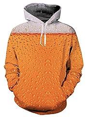 Idea Regalo - NEWISTAR Felpe con cappuccio unisex 3D Pullover uomo donna con stampe animali galaxy XXL