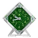 Pingenaneer Wecker Stille Glockenwecker Analog Quarzwecker Klassisch Tischuhren mit Nachtlicht , Lauter Alarm , Ohne Ticken , Schlummerfunktion , Batteriebetrieben Diamant