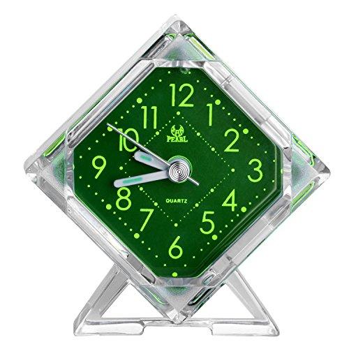 Pingenaneer Wecker Stille Glockenwecker Analog Quarzwecker Klassisch Tischuhren mit Nachtlicht , Lauter Alarm , Ohne Ticken , Schlummerfunktion , Batteriebetrieben...