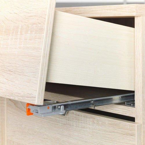 Kommode in Sonoma Trüffel-Nachb., 4 Türen, 1 Schubkasten in Grauspiegel, mit Türdämpfung und Selbsteinzug, Maße: B/H/T ca. 181,5/101/38,5 cm - 4