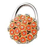 3d Falttasche Handtaschenhalter Kleiderbügel Wandhaken Handtasche Tabelle Haken Tischhalter Orange Blume