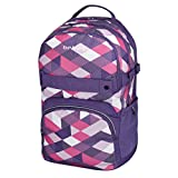 Herlitz 11410339 Schulrucksack be.bag cube, Purple Checked