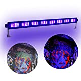 boryli Metall Gehäuse Violett Light Bar Schwarz UV-9 x LED 3 W, Wand Waschen Licht für DJ Disco Light Dark Effekt Stage leuchtendes Party Halloween Club 9x3W Black Light