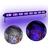 boryli Metall Gehäuse Violett Light Bar Schwarz UV-9x LED 3W, Wand Waschen Licht für DJ Disco Light Dark Effekt Stage leuchtendes Party Halloween Club 9x3W Black Light