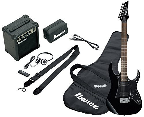 e gitarre ibanez Ibanez IJRG200-BK Jumpstart Set E-Gitarre (Amp, Gigbag, Gurt, Kabel, Plektren, Zubehörtasche) schwarz