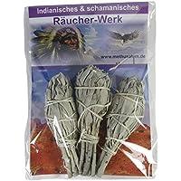 Indianisches Räucherset 4-teilig | Räucherwerk White Sage Salbei Kräuterbündel Smudge Sticks #81011 | + Booklet... preisvergleich bei billige-tabletten.eu