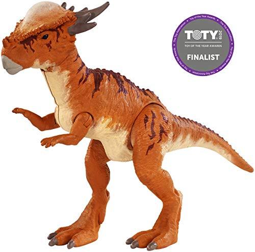 Jurassic World Battle Damage Stygimoloch Stiggy, Dinosaurio de Juguete, (Mattel FNB32)