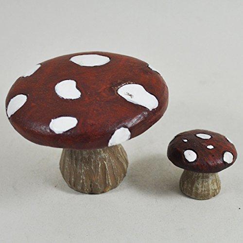 Prezents UK Mini Mushroom Fairy Garden Stuhl & Tisch Garten Miniatur Home Decor-Elfe Fee Pixie Hobbit Zauberhafte Geschenkidee-Höhe: 6cm/3cm -