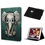 Coque pour iPad Air/ iPad Air 2/ iPad LANVY Bookstyle Étui Exquise Housse Imprimé en PU Cuir Case à rabat Coque de protection Portefeuille Case pour iPad Air/ iPad Air 2/ iPad 9.7 inch - l'éléphant