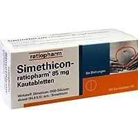 Simethicon-ratiopharm 85 mg Tabletten, 100 St. preisvergleich bei billige-tabletten.eu