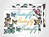 graz-design Fenstersticker Butterfly | Fensterfolie als bunte Aufkleber | Glasdekor für Badezimmer (DIN A4 (4Stück))