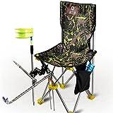 Sedia da braccio per pesca da campeggio, Sedia rilassante per esterni all'aperto pieghevole Mobilia portatile leggera