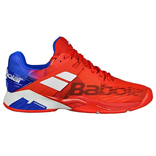 Babolat Chaussures de Tennis Fury All Court Homme, Rouge, 44.5
