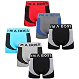 Get The Trend Mens 6 Pack Seamless Boxer Shorts Trunks Underpant Briefs Underwear Rude Adults