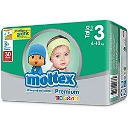 Moltex Premium Bolsa de Pañales Desechables - 30 Pañales