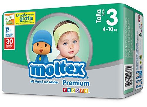 Pañales Talla 3 De (4 A 10 kg) Moltex Premium 30 unidades