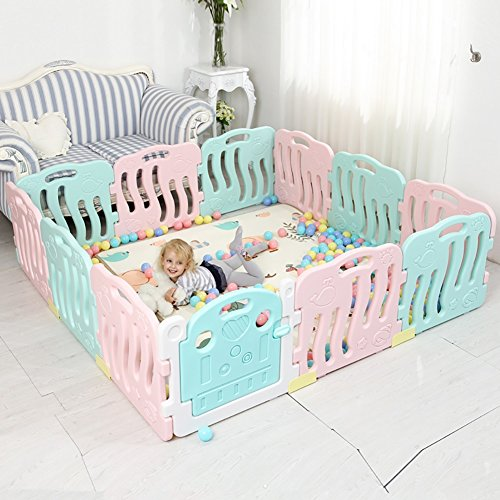 Baby Playpen Kids Activity Center Seguridad Jugar Yard Home Indoor Outdoor, Opcional...