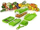 Genius Nicer Dicer Plus Kompakt Set , 7-tlg. Gemüse- Obst- Multi-Schneider NEU, Farbe:grün