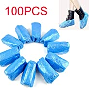 100 PCS Disposable Shoe & Boot Covers Durable & Water Resistant Indoor Carpet Floor Protection One Siz