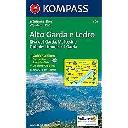 Carta escursionistica n. 690. Lago di Garda. Alto Garda e Ledro, Riva del Garda, Malcesine 1:25000. Adatto a GPS. DVD-ROM. Digital map