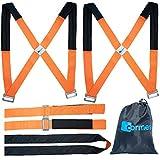 cormes 2 Personen Tragegurt für Möbel mit Anti-Rutsch Vorrichtung - Robuster Gurt zum leichten Tragen von Lasten (orange) - Umzugsgurt, Tragegurt