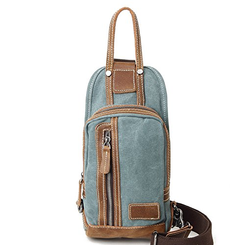 Mefly Retrò Spalla Singolo Incrociate In Diagonale Pack Borsa Con Croce Obliqua Pack Blu Royal Lake Green