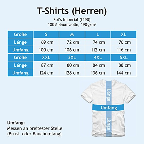 Flowerpower Gärtner #1 T-Shirt | Berufe | Follow your dreams | Traumberuf | Herren | Shirt © Shirt Happenz Blau (Royalblue L190)