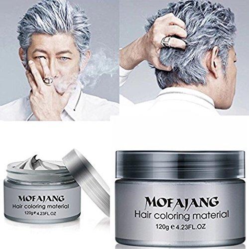 (GARYOB Silber Haarfärbemittel Wachs Natürliche Asche Matte Langlebige professionelle Starke Haar Lack Gel Creme 4.23oz für Männer und Frauen)