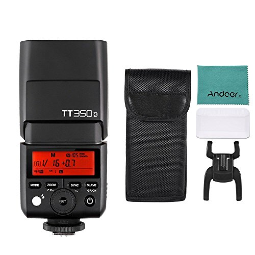 Godox Thinklite TT350O Mini 2.4G Wireless TTL Flash Master e Slave Speedlite per Olympus E-M10II E-M5II E-M1 E-PL8 / 7/6/5 E-P5 / 3 PEN-F per Panasonic DMC-GX85 DMC-G7 DMC-GF1 DMC-LX100 DMC-G85