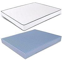 Amazon.it: letto king size 200x200 - Bianco / Materassi / Materassi e ...