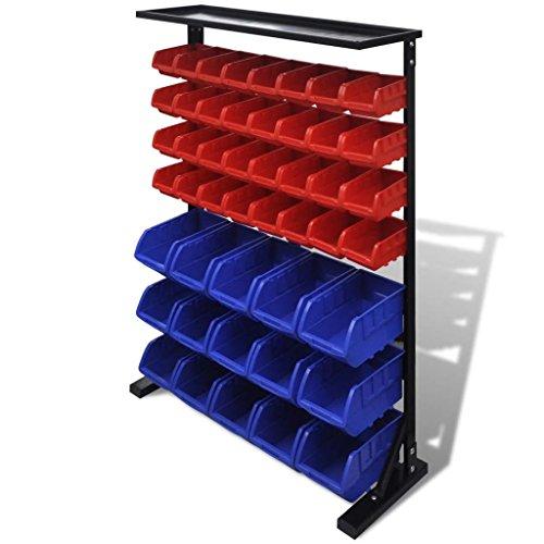 Weilandeal Werkzeug-Organizer für Werkstatt, Blau/Rot Werkzeug-Organizer für die Wand....