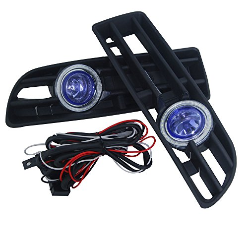 Reemplazo personalizada OEM 2x frente Azul Lente š¢mbar Niebla Luces Lamp & Side Rejillas Con CCFL Izquierda Derecha 12V para 1999-2004 Volkswagen Bora MK4