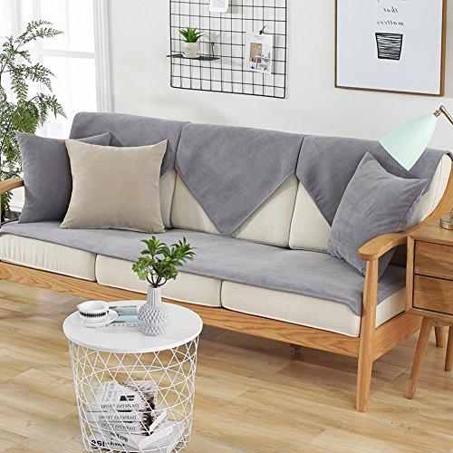 Wohnzimmer Outdoor Loveseat (TY&WJ Wasserdicht Sofabezug Anti-rutsch Couch-abdeckungen Für Wohnzimmer Outdoor Terrasse Schmutzabweisend-Grau 110x180cm(43x71inch))
