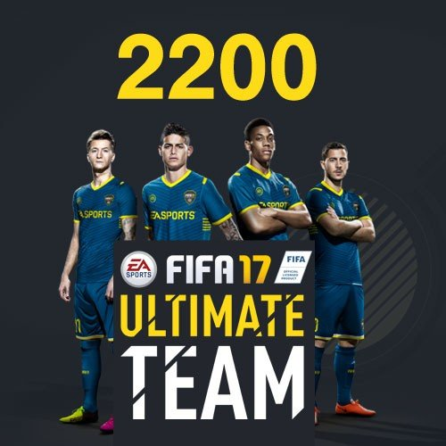FIFA 17 2200 Ultimate Team Punkte DLC Only [Importación