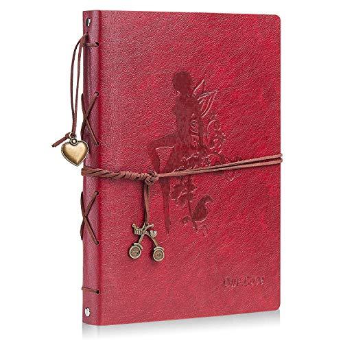 Minlna Album de Fotos DIY para Pegar Álbum Scrapbooking Libros de Firmas Cuero...