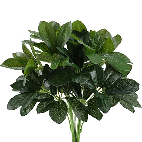 HUAESIN 2pcs Künstliche Pflanzen Draußen Kunstpflanze Wetterfest Balkonpflanzen Grün Blätter Künstlich Grünpflanze Unechte Pflanzen für Balkon Garten Topf Hochzeit Dekoration