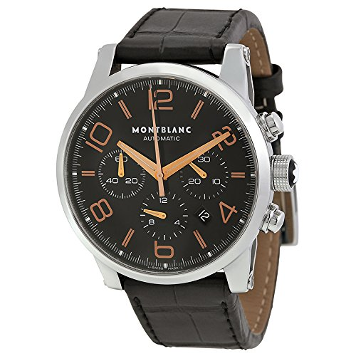 Montblanc Timewalker cronografo automatico nero quadrante mens orologio...