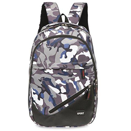 Sansee Recreation borsa viaggio tela camouflage Satchel scuola zaino, Green Blue